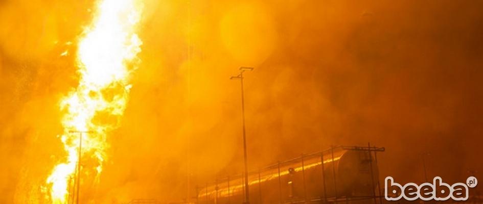 Start i eksplozja rakiety Antares od NASA